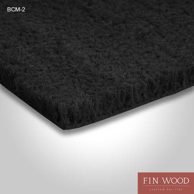 Black Coir Door Mat