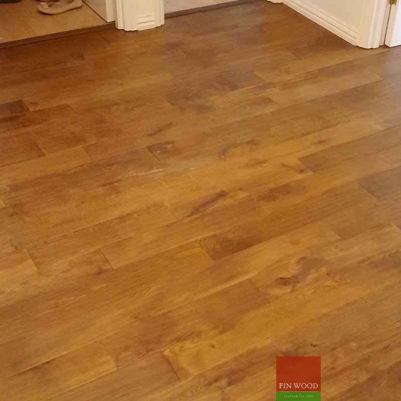 Fitting smoked oak solid wood floors for Solid hardwood flooring
