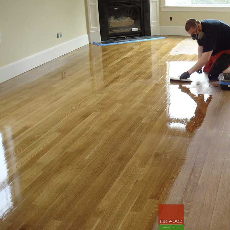 Hardwood floor sanding and lacquer