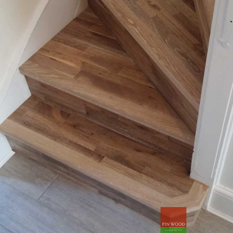 Stair Cladding - Classic look wooden stair cladding