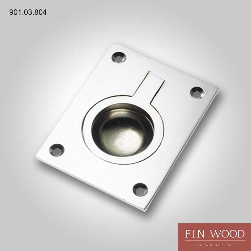 901.03.804 Flush ring pull handle, 52 x 38 mm Hafele