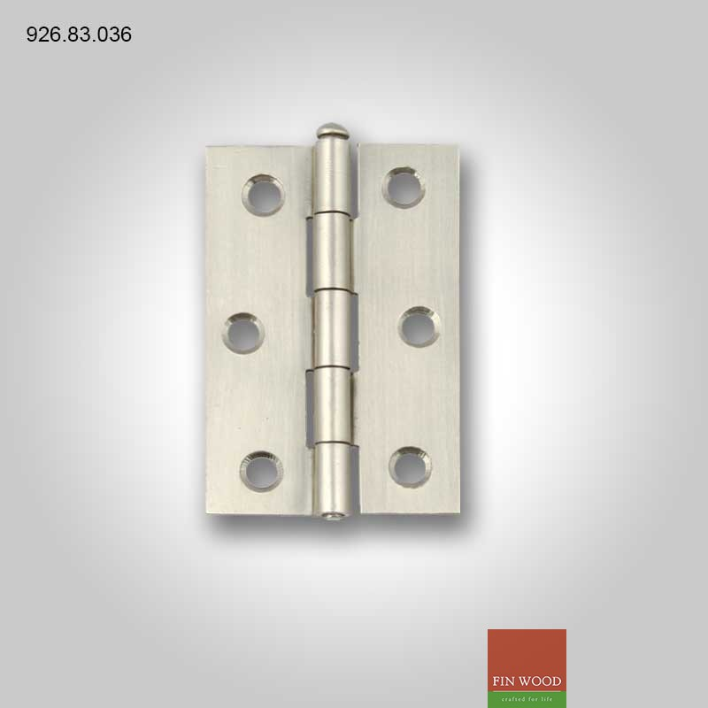 1840 Butt hinge, removable pin, 75 x 49 mm 926.83.036 Hafele
