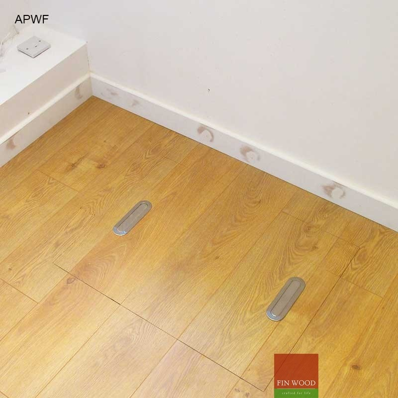 Access panels for wooden floor for Laminate floor panels
