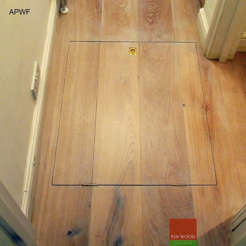 Access panels for wooden floor for Hardwood floor panels