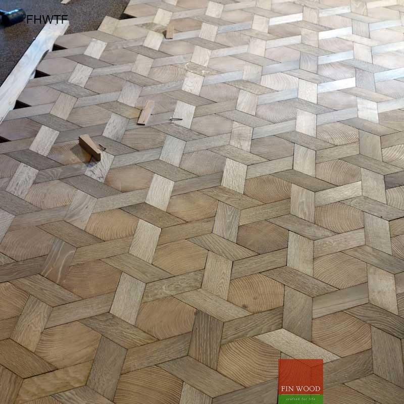 Hexagon Wood Tiles floors - hexagon parquet floor