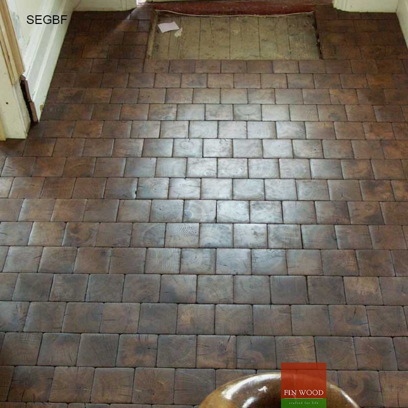 Square End Grain Blocks Flooring - London