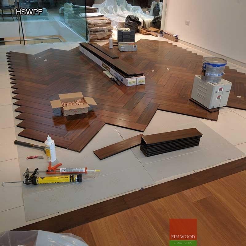 Herringbone solid wood parquet flooring - Parquet Floor - Solid Wood Parquet Flooring - Parquet Floor