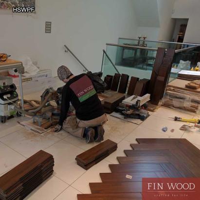 Herringbone solid wood parquet flooring - Parquet Floor