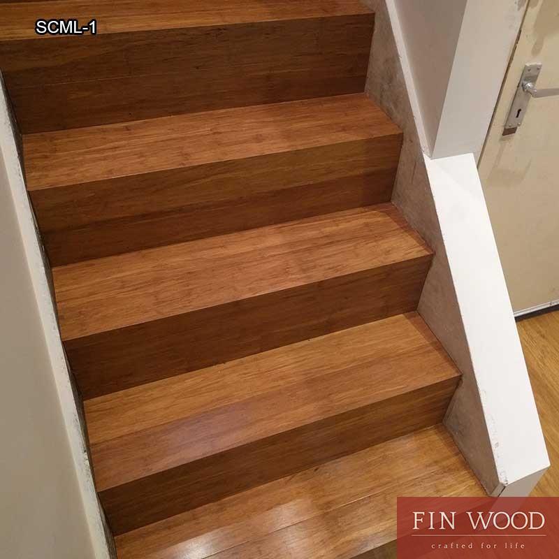 Stairs Cladding - Modern look - bomboo floor