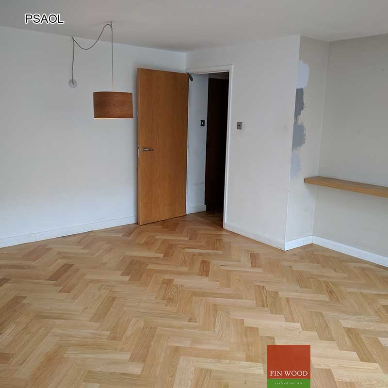 Parquet Sanding and Oiling Herringbone Natural oak