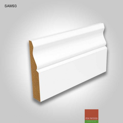 MDF Ogee Skirting white pre-primed