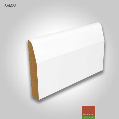 MDF Chamfered and round skirting white pre-primed