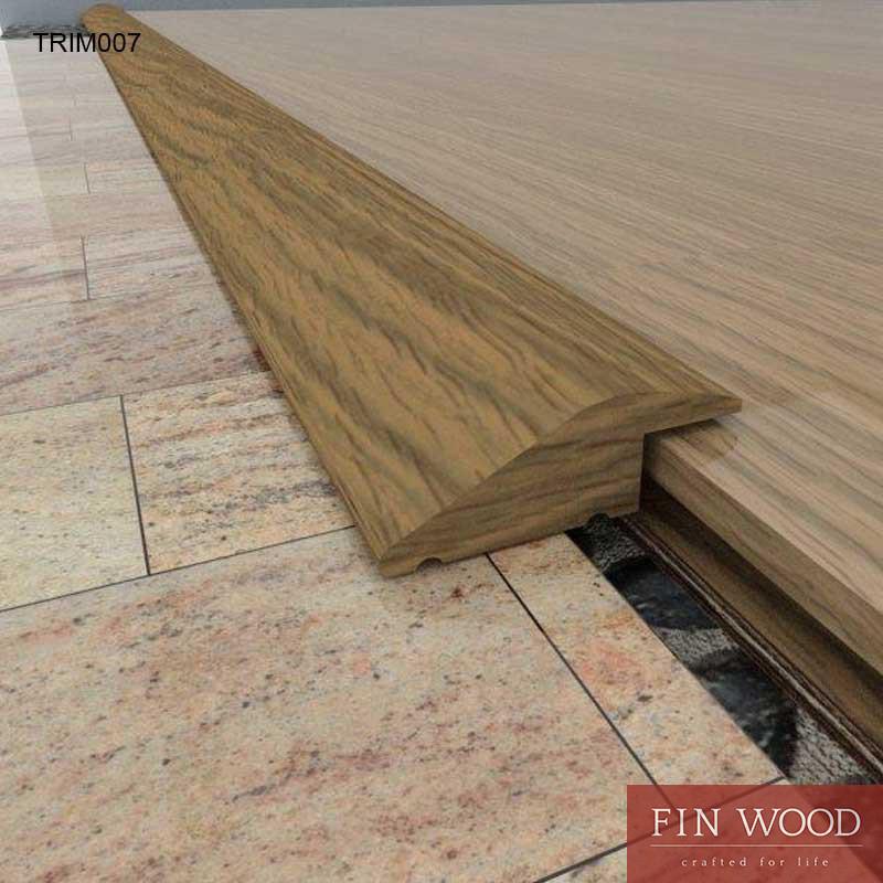 Door trim ramp - solid Oak