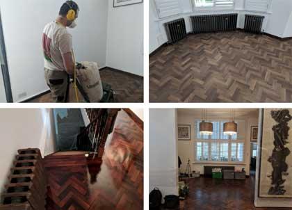 Full restoration of a rare panga panga floor