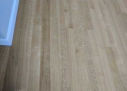 The unique markings of quarter sawn oak
