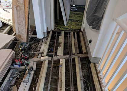 We can advise and carry out subfloor improvement work
