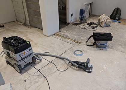 Floor levelling on concrete floors
