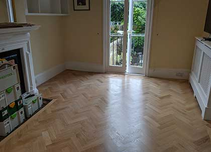 We were able to keep the original skirting boards in place