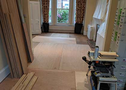 Hardwood ply creates a strong and secure subfloor