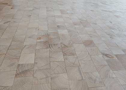 End grain flooring is highly decorative