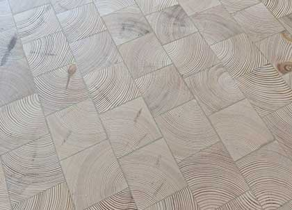 Once installed, the blocks work together to create a stunning floor