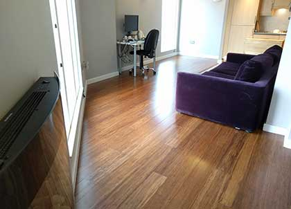 Bamboo flooring looks great and is eco-friendly too