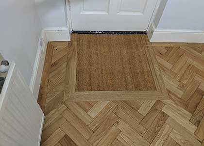 The new entrance mat is fitted into the floor so it isn't a trip hazard
