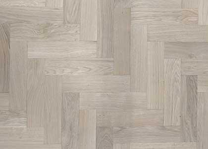 Herringbone parquet pattern laid diagonally