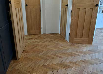 New wood flooring may increase the flooring levels, so the doors will need trimming
