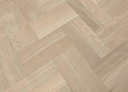 A double herringbone parquet floor