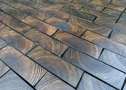 Growth rings are clearly visible especially when the pine is stained with a dark oil