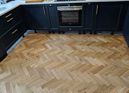 The added coat of sealer will help to protect the new kitchen floor