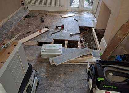 It may be necessary to replace badly damaged boards