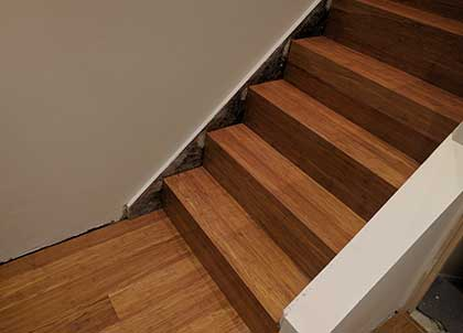 Bamboo can be used in the same way as wood and can also be used to clad stairs