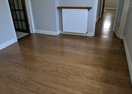 We fitted the new wooden planks under the skirting boards
