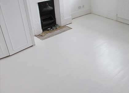 This floor has been painted white