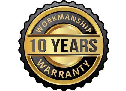 10 Years Wormanship waranty