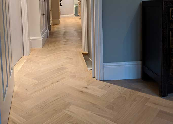 The continuous parquet floor runs throughout the ground floor #CraftedForLife