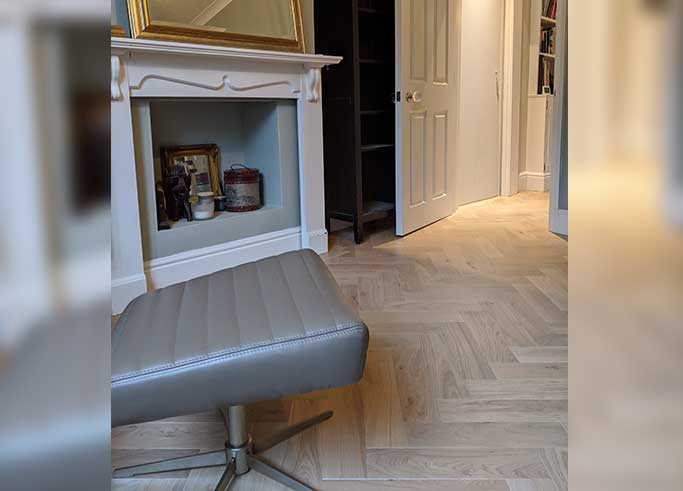The light herringbone parquet gives a fresh, airy feel #CraftedForLife
