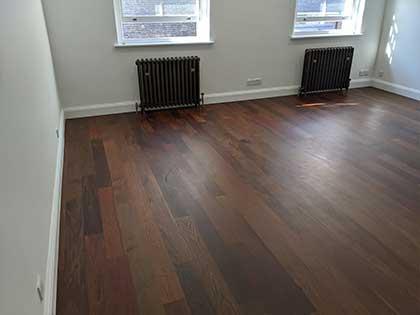 Rich, dark Ipe wood in the living room #CraftedForLife