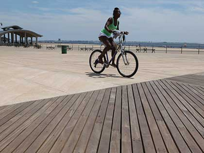 Did you know that Brazilian Ipe makes up most of the boardwalks in Coney Island, NY? #CraftedForLife