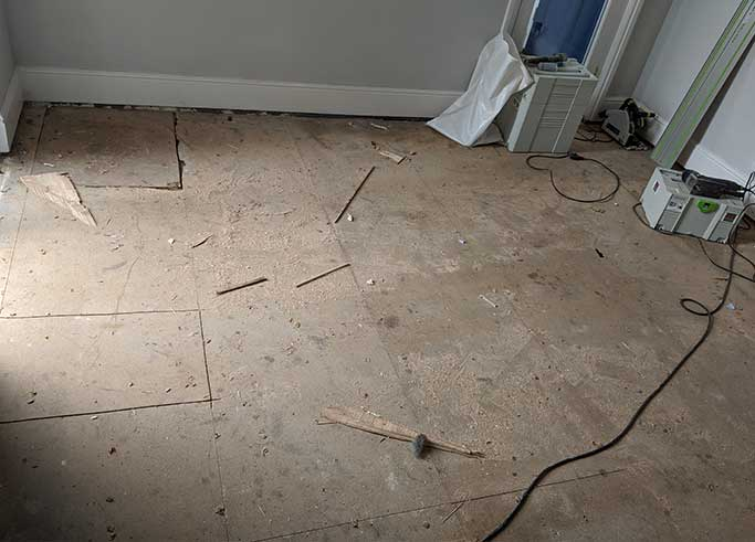 The old subfloor made of chipboard #CraftedForLife