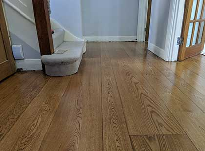 Practical functional natural beautiful simple random width oak hardwood flooring Fin Wood #CraftedForLife