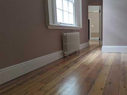 Restored Victorian pine boards provide a smart, natural finish #CraftedForLife