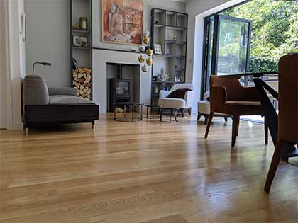 The new wood floor helps to showcase the customer's artistic taste #CraftedForLife