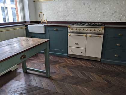 Vintage French oak chevron brings 19th century elegance to Bloomsbury Mansion flat, WC1B #CraftedForLife