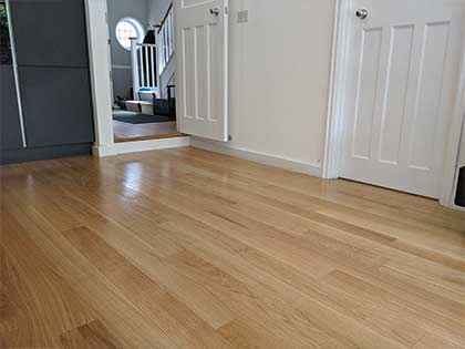 We aligned the floor in the kitchen with the floor in the hallway #CraftedForLife