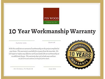 We offer all our customers a 10 year workmanship warranty. #CraftedForLife