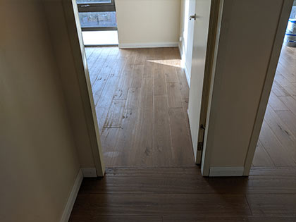 Sanded floorboards without any bevels