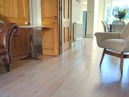 A pre-sealed wooden floor with a small bevel